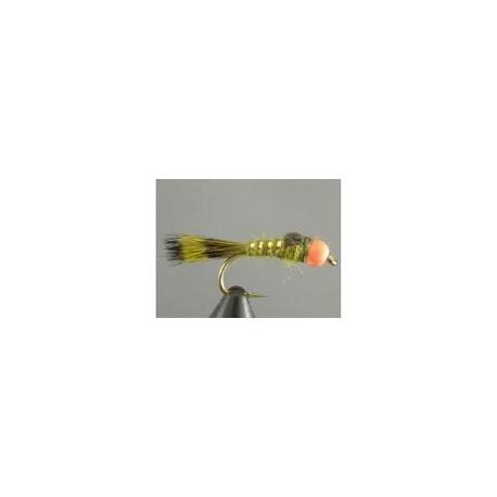 BH Fire Bead Bead Hares Ear Olive