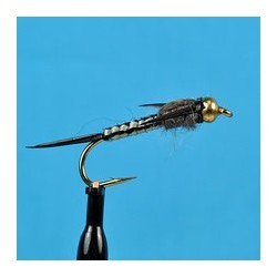 Bead Head Woven Stone Fly Black