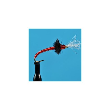 Glass Bead Rojo Midge Red