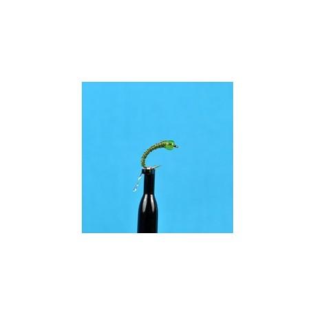 Glass Bead Zebra Midge Olive