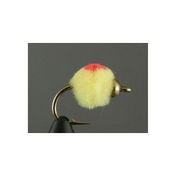 Beadhead Glo Bug Oregon Cheese Flame
