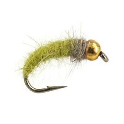 Tungsten Nymph Beige & Olive Grayling Nymph $4.10