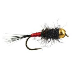 Tungsten Nymph Black Red Catcher $4.10