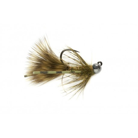 Gold Bead Jig Bugger Olive Barbless
