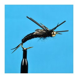 Bead Head Ks Stone Fly Black Rubber Leg