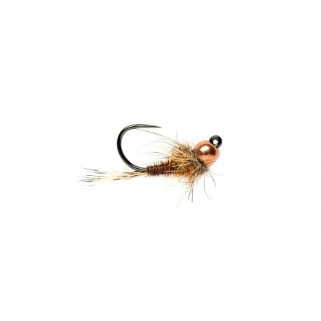 Jig Nymphs Hot Spot Pheasant Tail Jig Orange (TBH) Barbless $3.00