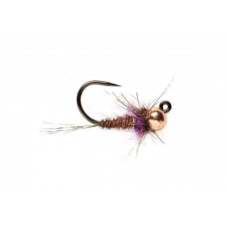 Jig Nymphs Hot Spot Pheasant Tail Jig Purple Barbless $3.00