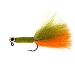 Jig Nymphs Olive Orange Wooly Jig $3.00