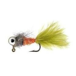 Jig Nymphs Orange Wooly Olive Eyed Jig $3.00