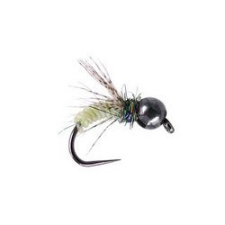 Green Shining Caddis Pupa Tungsten