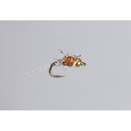 Beaded Nymphs Allisons Rootbeer Flasher $2.49