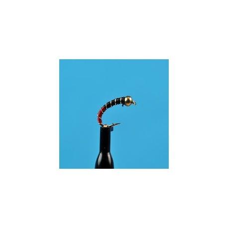 Bead Head Zebra Midge Red Black